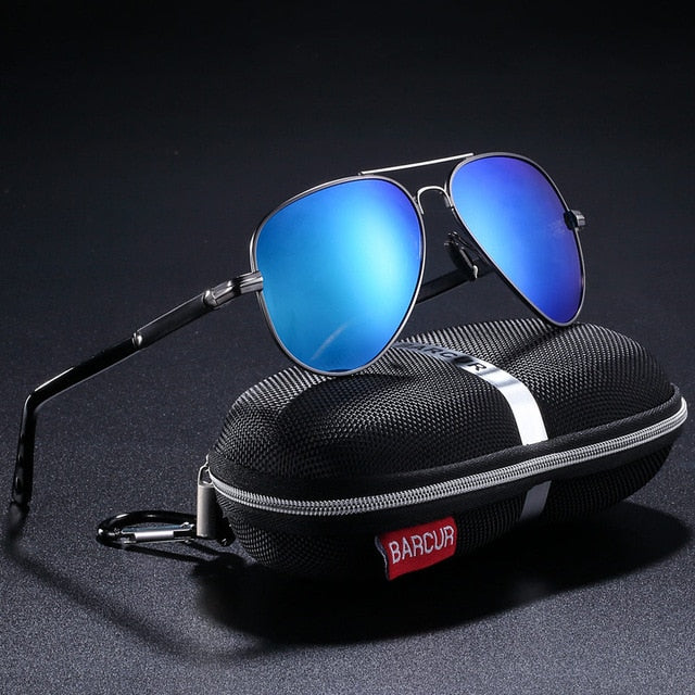 BARCUR Pilot Polarized Sunglasses