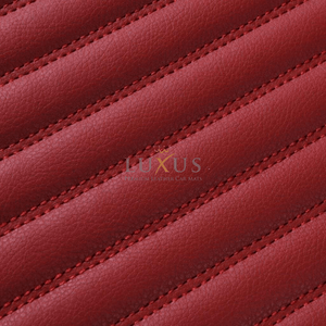 Cherry Red Stripe Luxury Car Mats Set