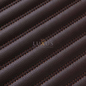 Chocolate Brown Stripe Luxury Car Mats Set
