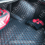 Ferrari Red 3D Luxury Leather Boot/Trunk Mat
