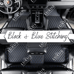 Black & Blue Stitching Luxury Car Mats Set