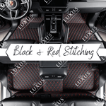 Black & Red Stitching Luxury Car Mats Set