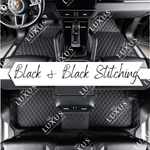 Black & Black Stitching Luxury Car Mats Set
