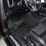 Black & Beige Stitching Luxury Car Mats Set