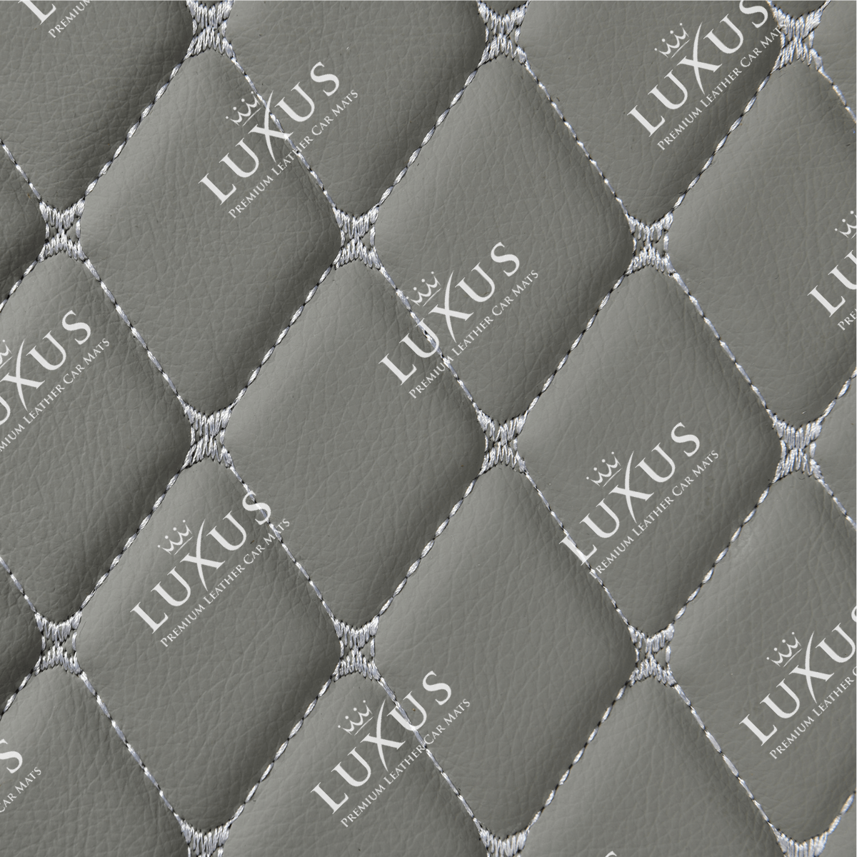 Light Grey Luxury Car Mats Set