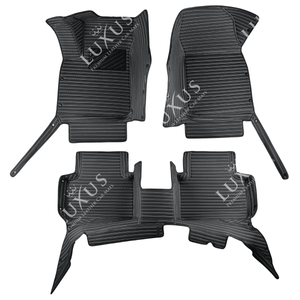 Black Stripe Luxury Car Mats Set