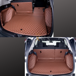 Caramel Brown 3D Luxury Leather Boot/Trunk Mat