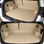 Cream Beige 3D Luxury Leather Boot/Trunk Mat