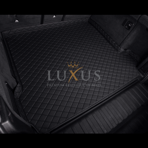 Black & Black Stitching Luxury Leather Boot/Trunk Mat