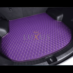 Lavender Purple Luxury Leather Boot/Trunk Mat