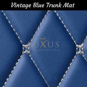 Vintage Blue Luxury Leather Boot/Trunk Mat