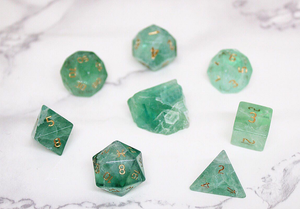 Pisces Green Fluorite Polyhedral Set