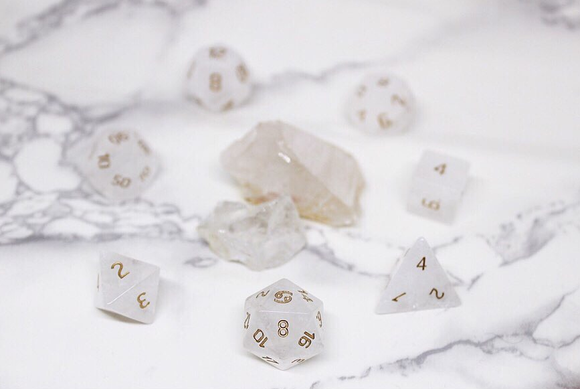 Cancer Clear Quartz Polyhedral Set