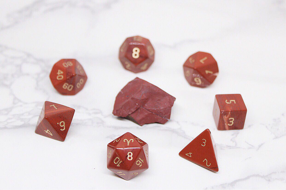 Aries Red Jasper Polyhedral Set
