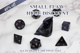 FLAWED Scorpio Blue Sandstone Polyhedral Set 40% Off Retail Price!