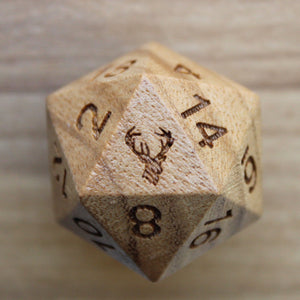 Deer Teak Wood Single D20