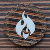 Fire Black and Brown Technical Wood Single D20