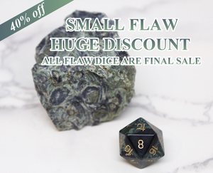 FLAWED Jupiter Kambaba Jasper Single D20 40% Off Retail Price!