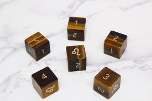 FLAWED Leo Yellow Tiger Eye D6 Set