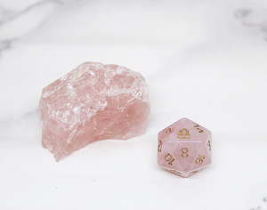 Libra Rose Quartz Single D20