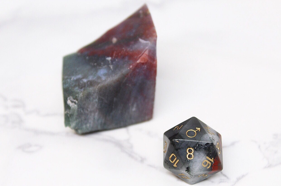 Mars African Bloodstone Single D20
