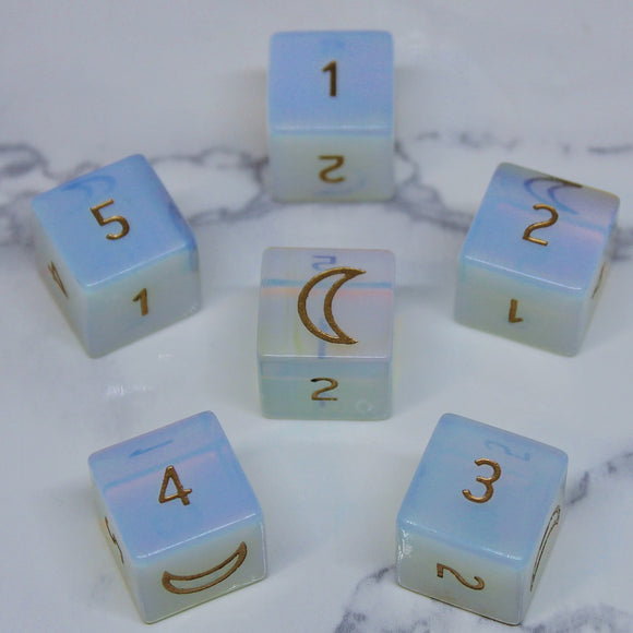 FLAWED Moon Opalite D6 Set