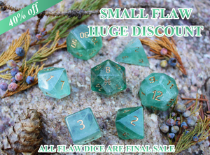 FLAWED Pisces Green Fluorite Polyhedral Set 40% Off Retail Price!