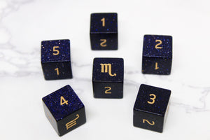 FLAWED Scorpio Blue Sandstone D6 Set