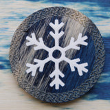 Snow Blue and White Technical Wood Single D20