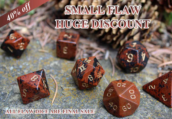 FLAWED Mahogany Obsidian Polyhedral Set 40% Off Retail Price!