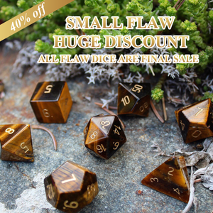 FLAWED Leo Yellow Tiger Eye Polyhedral Set 40% Off Retail Price!