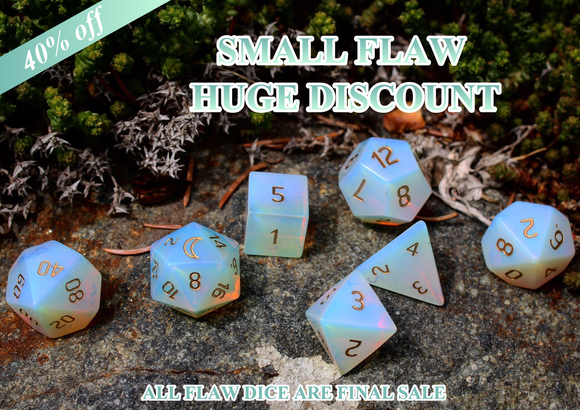FLAWED Moon Opalite Polyhedral Set 40% Off Retail Price!
