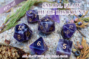 Flawed Sagittarius Amethyst Polyhedral Set 40% Off Retail Price!