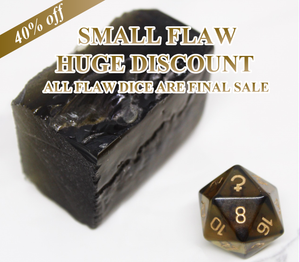 FLAWED Ceres Smoky Quartz Single D20 40% Off Retail Price!