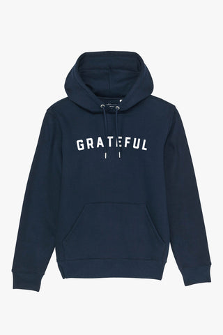 Mindful Muse GRATEFUL Hoodie French Navy