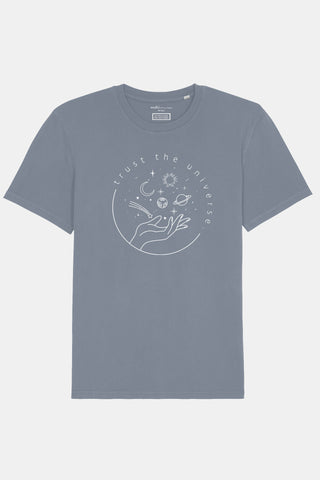 Trust the Universe T-Shirt Dyed Lava Grey