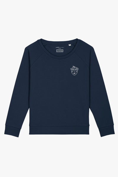 Mindful Muse Conscious Universe Sweatshirt Frech Navy