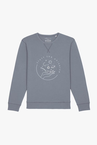 Mindful Muse Trust the Universe – Sweatshirt Dyed Lava Grey
