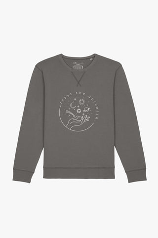Mindful Muse Trust the Universe – Sweatshirt Dyed Mid Anthracite