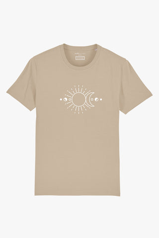 Mindful Muse Sun Moon and Stars Shirt Desert Dust