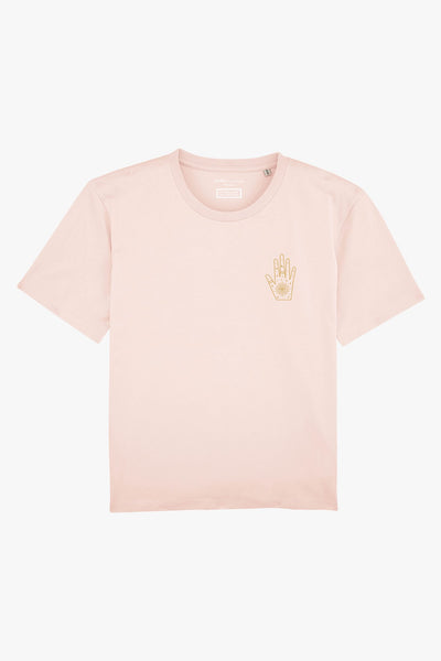 Mindful Muse Mystery Hand T-Shirt Candy Pink