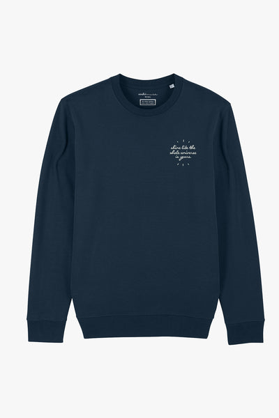 Mindful Muse shine like the whole universe Sweatshirt French Navy