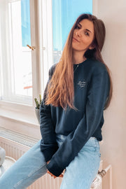 Mindul Muse Shine Like the Whole Universe is Yours Sweatshirt French Navy