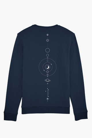 Mindful Muse Mindful Space Sweatshirt French Navy Back