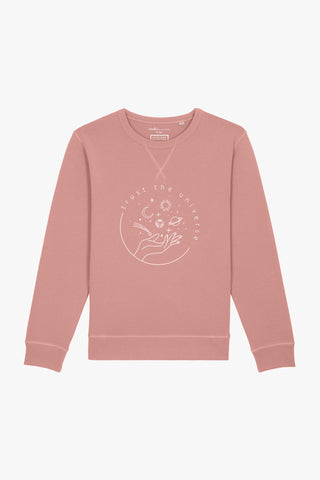 Mindful Muse Trust the Universe – Sweatshirt Dyed Canyon Pink