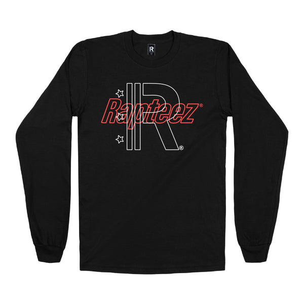 Rapteez® Double Logo L/S | Black