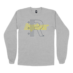 Rapteez® Double Logo L/S | Heather Grey