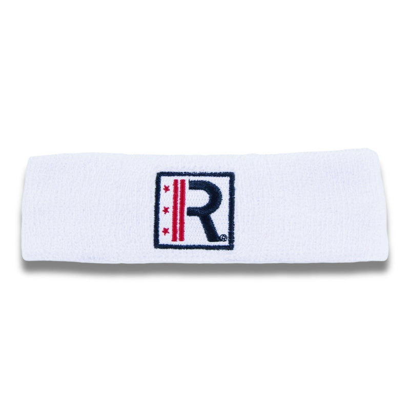 Rapteez® Logo Terry Headband | White