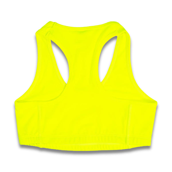 Rapteez® OG Logo Sports Bra | Neon Yellow