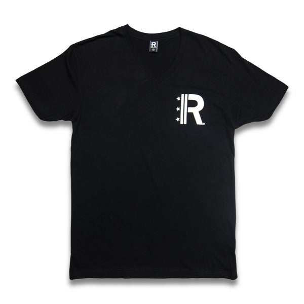 Rapteez® OG Logo V-Neck T-Shirt | Black